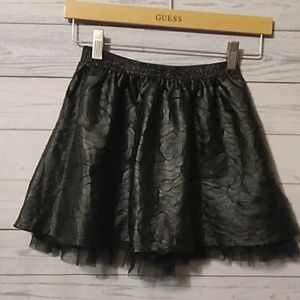 Children's Place faux leather rose skirt sz 7/8